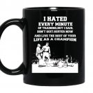 I hated every minute of training but i said i dont quit coffee Mug_Black