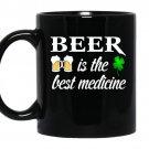 Beer is the best medicine coffee Mug_Black
