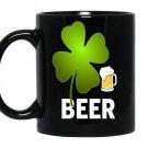 Beer lucky leaf coffee Mug_Black