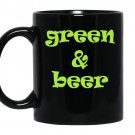Green and beer coffee Mug_Black