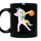 Dabbing unicorn basketballtrendy coffee Mug_Black