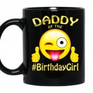 Daddy of the birthday girl emoji gift for party coffee Mug_Black