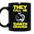 Darth grader teacher medium coffee Mug_Black