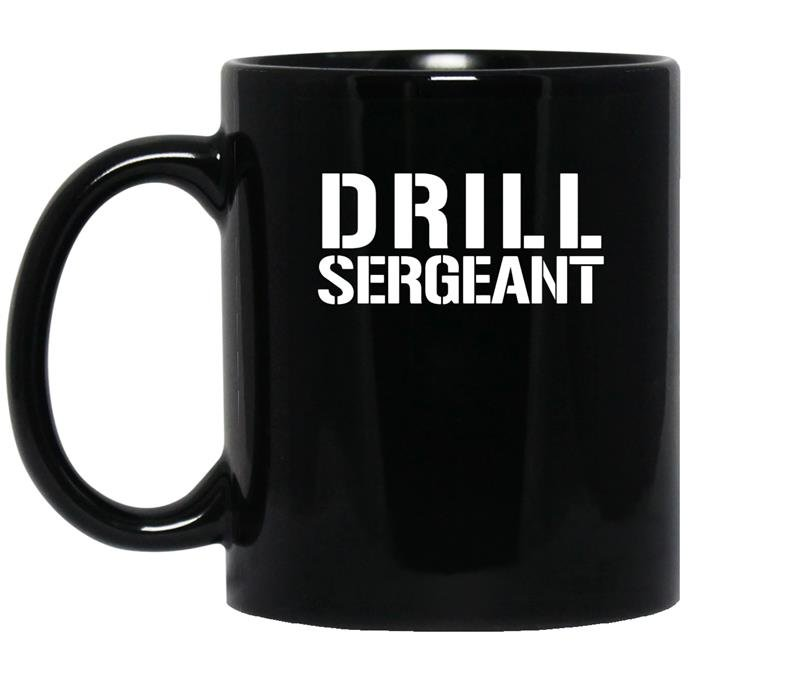 Drill sergean army boot coffee Mug_Black