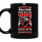 Dumbest thing piss off my wife tee vision coffee Mug_Black