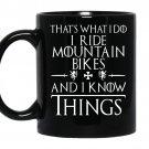 Funny mountain bikinggifts love to mountain bike coffee Mug_Black