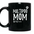Maltipoo momfunny gift for dog mom coffee Mug_Black