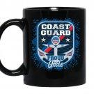 Mens coast guard proud uncle coffee Mug_Black