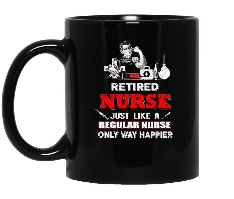Nurseretired nurse just like a regular nurse only coffee Mug_Black