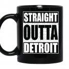 Straight outta detroitfunny michigan gif coffee Mug_Black