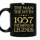 The man the myth 1957 the birth of legends coffee Mug_Black