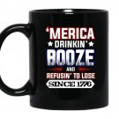 Merica 4th of july drinking party funny patriotic coffee Mug_Black