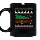 Rv camping ugly sweater xmas tree rv graphic coffee Mug_Black