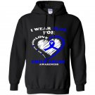 Child abuse i wear blue for child abuse awareness Hoodie