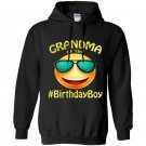 Grandma of the birthday boy emoji gift for party Hoodie