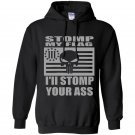 Stomp my flag your ass american punisher 3 biker nra Hoodie
