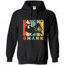 Vintage style basking shark silhouette Hoodie