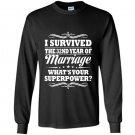 32nd wedding anniversary gift ideas i survived Long Sleeve Gildan