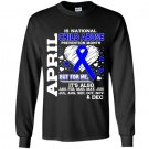 April is national child abuse prevention month Long Sleeve Gildan