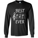 Best dad ever music gift for fathers day Long Sleeve Gildan