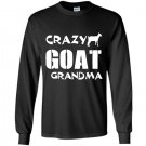 Crazy goat lady crazy goat grandma Long Sleeve Gildan