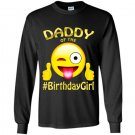 Daddy of the birthday girl emoji gift for party Long Sleeve Gildan