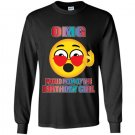 Emoji birthday omg proud mom heart sunglasses Long Sleeve Gildan