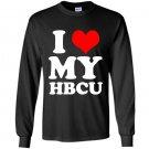 I heart love my hbcu pride education Long Sleeve Gildan