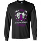 I wear purple for arnold chiari malformation awareness Long Sleeve Gildan