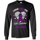 I wear purple for rett syndrome awareness Long Sleeve Gildan