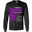 June is migraine awareness month Long Sleeve Gildan