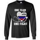 One team one fight nurse support police firefighter Long Sleeve Gildan