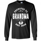 Promoted to grandma 2016 Long Sleeve Gildan