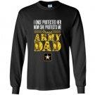 Proud army dad daughter soldier air force Long Sleeve Gildan