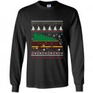Rv camping ugly sweater xmas tree rv graphic Long Sleeve Gildan