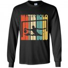 Vintage style water polo silhouette Long Sleeve Gildan