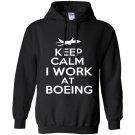 Keep calm i work at boeing Hoodie