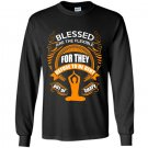 Blessed are the flexible for they refuse to be bent out of shape Long Sleeve Gildan