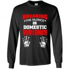 Breaking the silence on domestic violence Long Sleeve Gildan