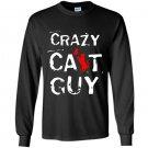 Crazy cat guy Long Sleeve Gildan