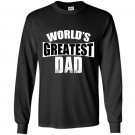 Worlds greatest dad fathers day Long Sleeve Gildan