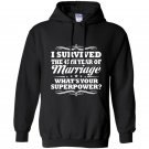 45th wedding anniversary gift ideas for her him i survived Hoodie