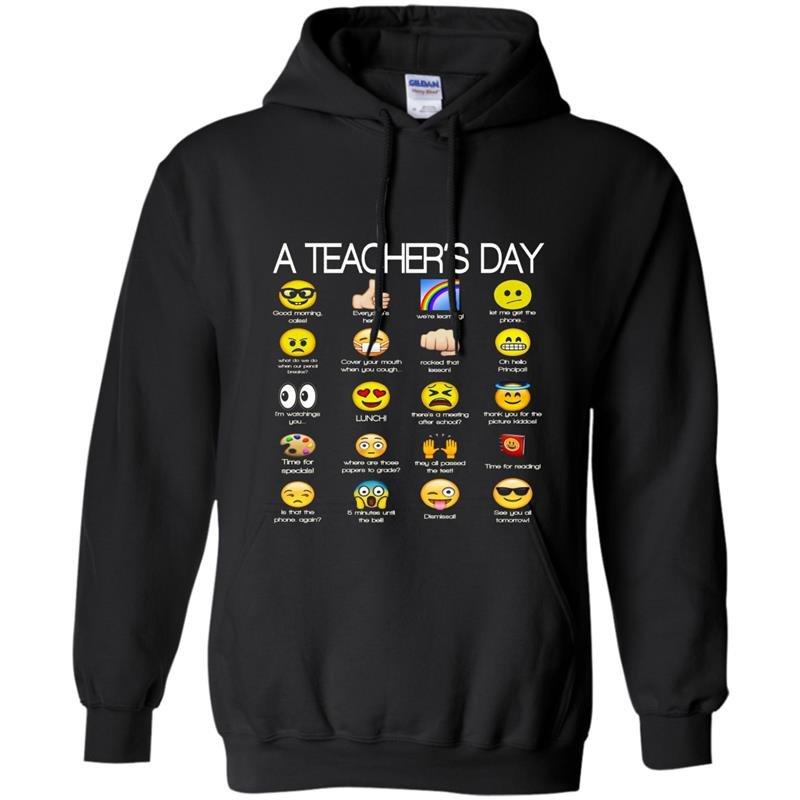 A teachers day funny emoji teacher gift Hoodie