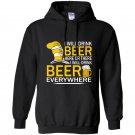 Hat cat sayings i will drink beer everywhere Hoodie