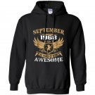 September 1968 50th years of being awesome birthday gift Hoodie