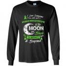 Duchenne muscular dystrophy awareness moon back love Long Sleeve Gildan