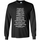 Funny popular cool love president inspire like obama Long Sleeve Gildan