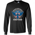 Mens proud air force step dad military airman pride Long Sleeve Gildan