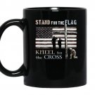 Veterans day stand for the flag kneel for the cross coffee Mug_Black