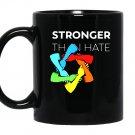 Stronger than hate iconic pittsburgh steelers logo jewish star Coffee Mug
